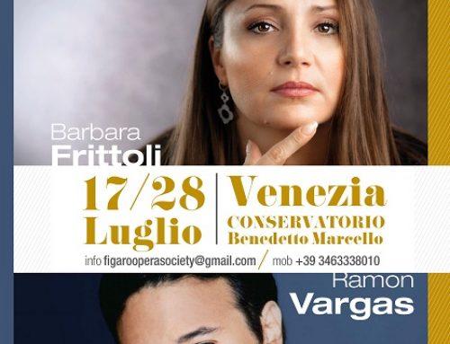 Dal 18 al 27 luglio 2019 corso di perfezionamento per cantanti lirici al Conservatorio di Venezia con la Figaro Opera Society
