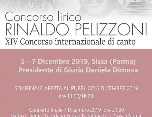 """Concorso Lirico """"R. Pelizzoni"""" – 5/7 Dicembre 2019"""