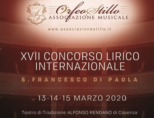 Dal 13 al 15 marzo 2020 prende il via il XVII Concorso Lirico Internazionale San Francesco Di Paola